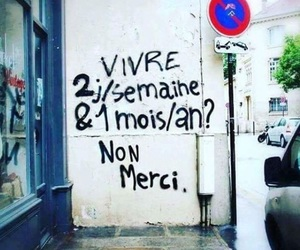 french, quote, and street art image