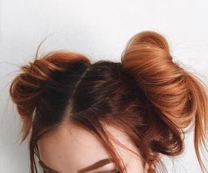 capelli, ragazza, and red image