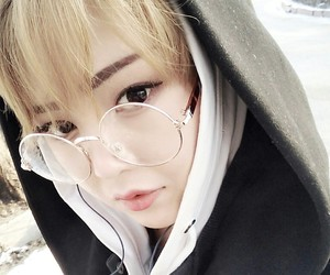 asian, blonde, and girl image