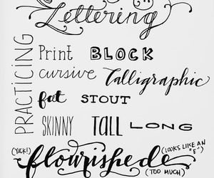 cheat sheet, guide, and lettering image