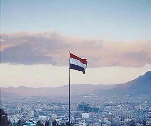flag, yemen, and sana'a image