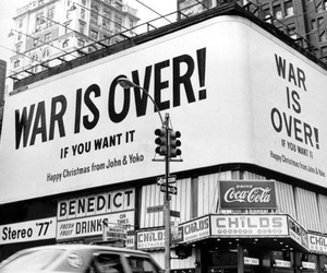 war, john lennon, and over image