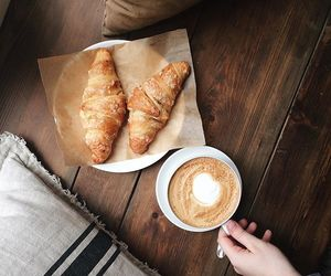 breakfast, croissant, and morning image