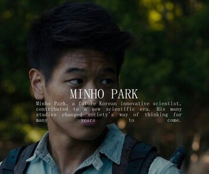 minho, book, and the maze runner image