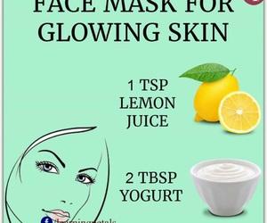 diy, skin, and yogurt image