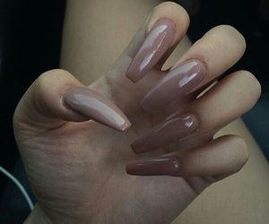 Nude, brown, and nails image