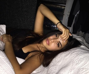 beauty, bed, and girl image