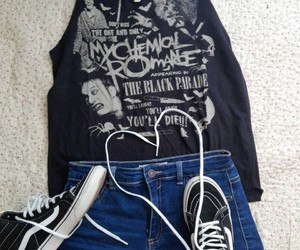 clothes, vans, and black image