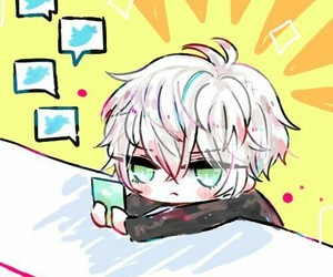 chibi, unknown, and mystic messenger image