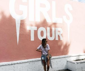 girl, pink, and tour image