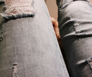 jeans, ripped, and tumblr image