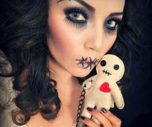 babydoll, makeup, and Darkness image