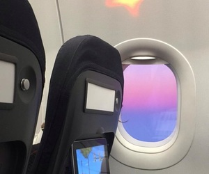 aesthetic, pastel, and plane image