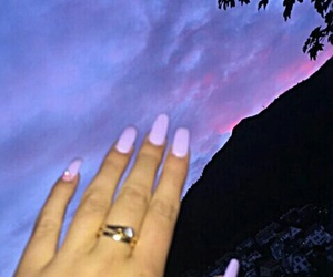 nails, purple, and sky image