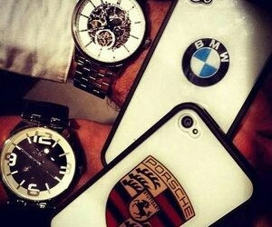 bmw, iphone, and porsche image