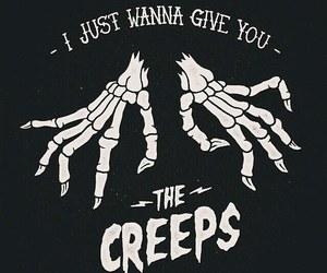 creepy, Halloween, and skeleton image