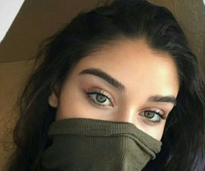 girl, eyes, and eyebrows image