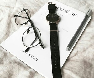 black, chic, and glasses image