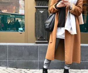 boots, winter, and hijab image