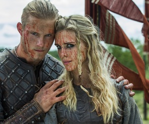 vikings, alexander ludwig, and gaia weiss image