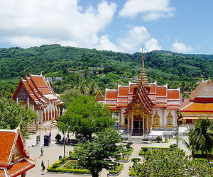 thailand., wat chalong, and chalong subdistrict image