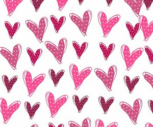 hearts, patterns, and wallpaper image