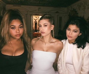 kylie jenner, hailey baldwin, and jordyn woods image