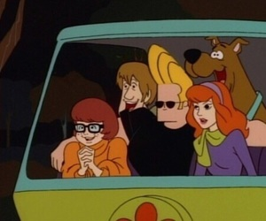 Johnny bravo, scooby doo, and cartoon image
