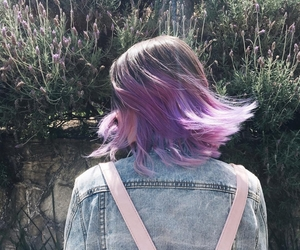 purple, hair, and girl image