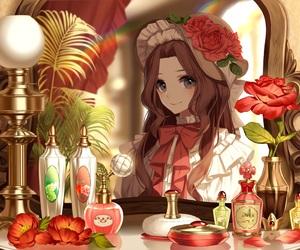anime, brown, and girl image