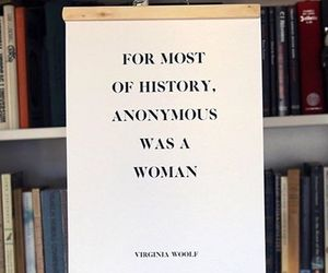 feminism, quote, and virginia woolf image