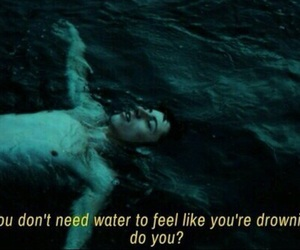 grunge, sad, and water image