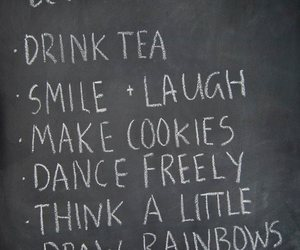 smile, quote, and tea image