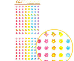 etsy, rainbow flowers, and cute stationery image