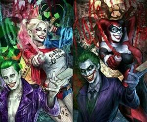 guy, harley quinn, and joker image