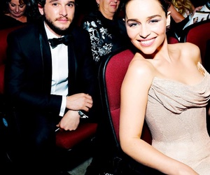 got, emilia clarke, and kit harington image