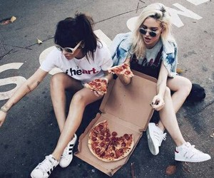 pizza, love, and bestfriends image