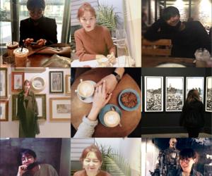 coffee shop, bangtanvelvet, and moodboard image