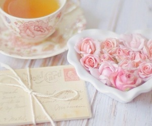 tea, vintage, and Letter image