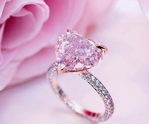 pink, ring, and heart image