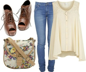 bag, blouse, and clothing image