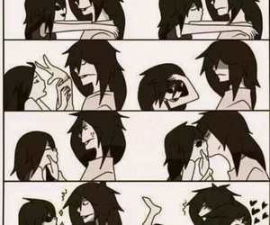 kiss, jeff the killer, and couple image