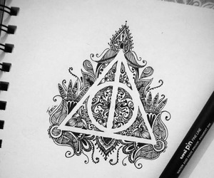 dessin, harry potter, and feutre image