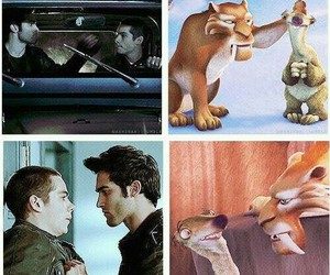 teen wolf, ice age, and sterek image
