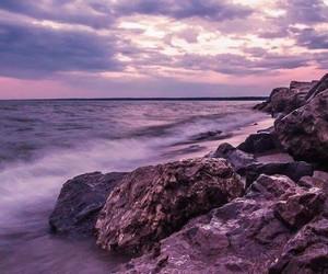 sunset purple - ocean image