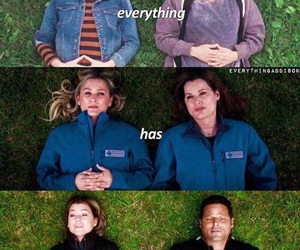 ellen pompeo, justin chambers, and meredith grey image