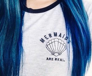 fashion, hair, and mermaid image