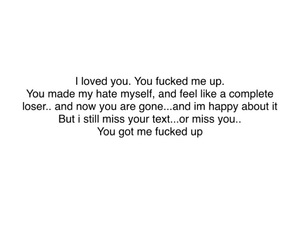 hate, love text, and miss you image