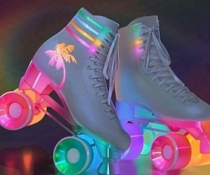 colors, light, and shoes image