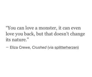 quote, monster, and love image